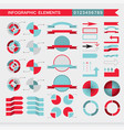 set of infographic elements charts graph diagram vector image vector image