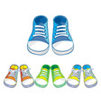 set of kids sneakers vector image