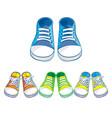 set of kids sneakers vector image vector image
