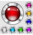 Set of transparent glass buttons vector image vector image