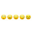 set sad astonished neutral and crying face vector image