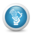 Sms Glossy Icon vector image vector image