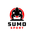 traditional japanese sumo sport logo vector image