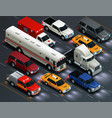 transport traffic realistic composition vector image vector image