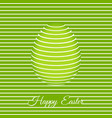 trendy 3d easter greeting card template with egg vector image vector image
