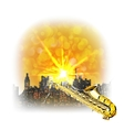 urban landscape with a bright flash and saxophone vector image