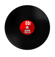 Vinyl record 60s hits vector image vector image