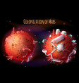 colonization of mars concept vector image