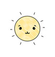grated tender and cute sun kawaii weather vector image