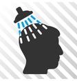 Head Shower Icon vector image