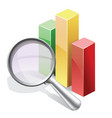 Stat search vector image