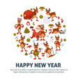 2018 poster for christmas or new year winter vector image vector image