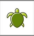 a turtle design logo animals vector image vector image