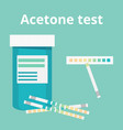 acetone test vector image vector image