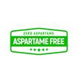 aspartame free artificial symbol icon health vector image vector image