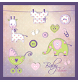 Babz shower elements vector image vector image