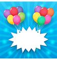 balloon sky background vector image vector image