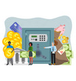bank safe and vault banner vector image vector image