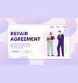 banner car repair agreement concept vector image