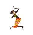 beautiful african woman dancing aboriginal dancer