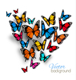 Beautiful Background With Colorful Butterfly vector image vector image