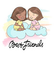 best friends card greeting card vector image