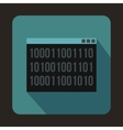 Binary code icon in flat style vector image vector image