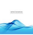 blue abstract background with water wave vector image vector image