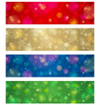 brightness color christmas banners vector image vector image