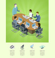 business conference isometric 3d infographics vector image vector image