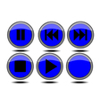 Buttons for player vector image vector image