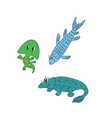 cartoon fish evolution vector image vector image