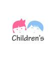 childrens logo design vector image vector image