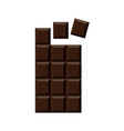 chocolate bar isolated on white background vector image vector image