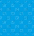 coliseum pattern seamless blue vector image