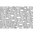 coloring book page with beautiful monochrome vector image vector image