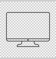 computer in line style monitor flat icon tv symbol vector image vector image