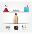 Creative infographics education pencil concept vector
