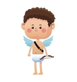 cute little cupid valentine day vector image vector image