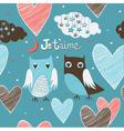 cute romantic owls vector image