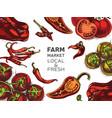eco shop farm product sketch vegetables vector image vector image
