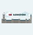 elizabeth tower in rainy london cartoon image vector image