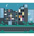 Flat building design vector image vector image