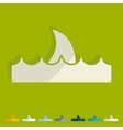 Flat design wave vector image vector image
