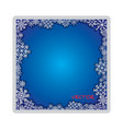 frosty isolated foto frame decorative ornament vector image vector image