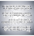 glowing neon silver numbers vector image vector image