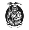 grim reaper with scythe graphic vector image
