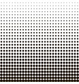halftone dots black dots on white isolated vector image