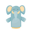 hand or finger puppets play doll elephant cartoon vector image