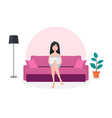 home working coworking space concept beautiful vector image vector image